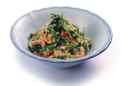 壬生菜の白和え