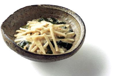 山の芋の酢の物