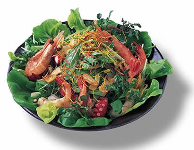 みず菜のシーフードサラダ