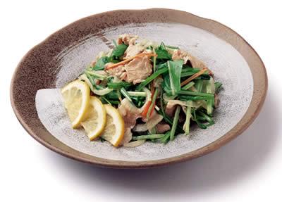 壬生菜の和風マリネ