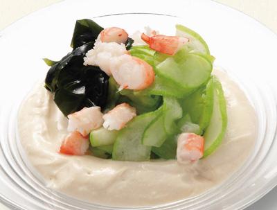 京うりとお豆腐の和風サラダ