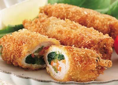 京壬生菜のロールフライ