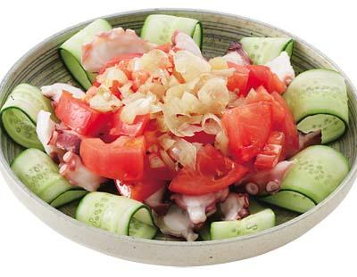 トマトとたこの和風サラダ