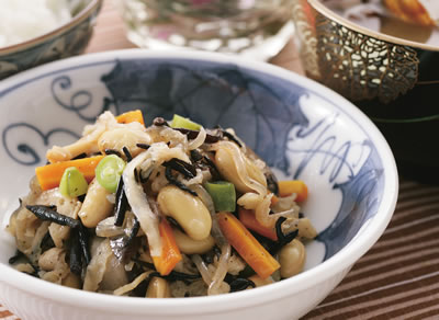 大豆と千切りダイコンの磯煮
