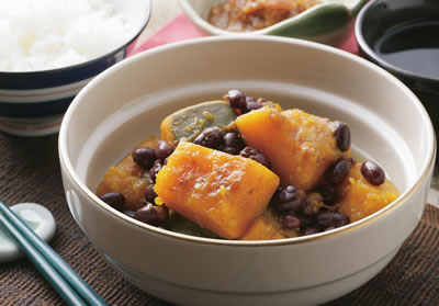 カボチャと小豆のいとこ煮