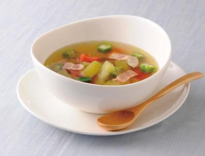 夏のさっぱり京うりスープ