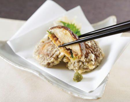 シイタケとツナの天ぷら