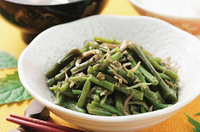 谷水菜の煮物